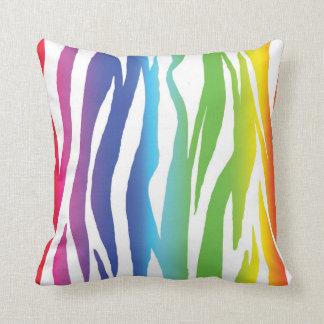 Cebra del arco iris almohadas