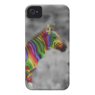 Cebra del arco iris Case-Mate iPhone 4 protector