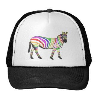 Cebra del arco iris gorras de camionero
