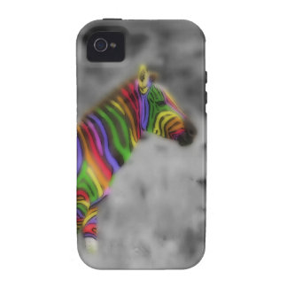 Cebra del arco iris iPhone 4/4S carcasas