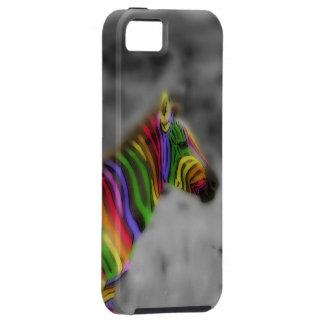 Cebra del arco iris iPhone 5 carcasas