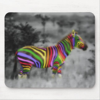 Cebra del arco iris tapete de raton