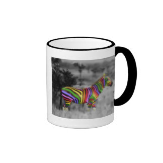 Cebra del arco iris taza de café