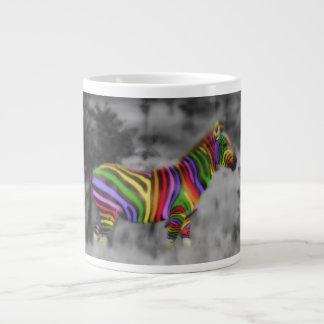Cebra del arco iris tazas jumbo