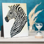 Cebra del arte del EDS con el caballete Placas Con Fotos