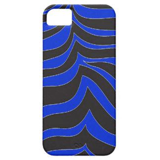 cebra del azul real del caso del iPhone 5 iPhone 5 Case-Mate Cobertura