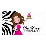 Cebra del brownie de 311 postres de Dollface Tarjeta De Visita
