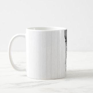 Cebra del código de barras taza básica blanca
