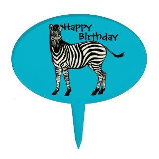 Cebra del cumpleaños de los muchachos de la torta figuras para tartas