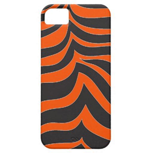 cebra del naranja del caso del iPhone 5 Funda Para iPhone SE/5/5s