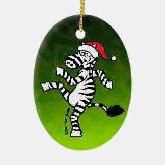 Cebra del navidad adorno de navidad
