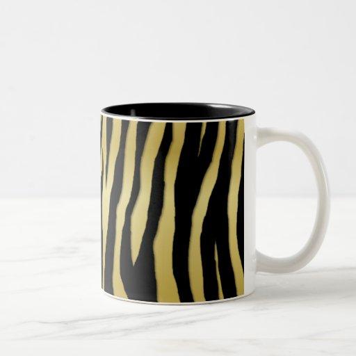 Cebra del oro tazas