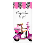 Cebra del rosa de la vespa de la magdalena de la t tarjetas publicitarias
