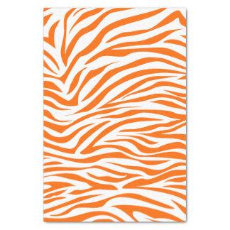 Cebra del safari de la mandarina papel de seda