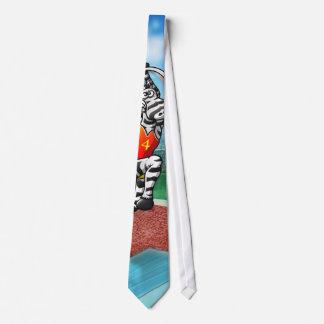 Cebra del salto con pértiga corbata personalizada