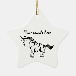 Cebra del unicornio ornamento para arbol de navidad