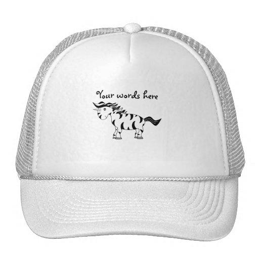 Cebra del unicornio gorras de camionero