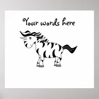Cebra del unicornio posters