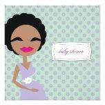 cebra embarazada de la mamá 311-Sweet - étnica Invitacion Personal