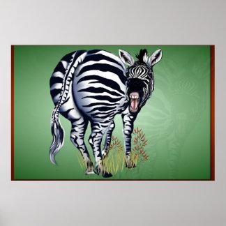 Cebra empalmada gorda - Yardsign Posters