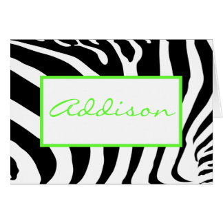 Cebra en cal tarjeta de felicitación