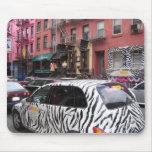 cebra en diseño del mousepad de Manhattan NYC Tapete De Ratones