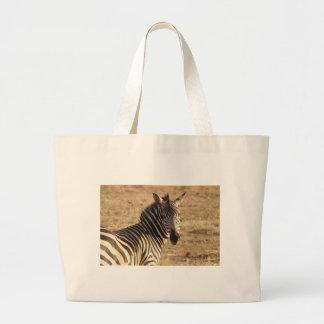 Cebra en la sabana bolsa tela grande