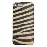 Cebra fotográfica, textured. funda para iPhone 6 barely there