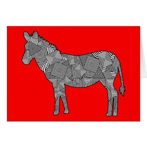 Cebra geométrica del collage de la forma (fondo tarjeta de felicitación