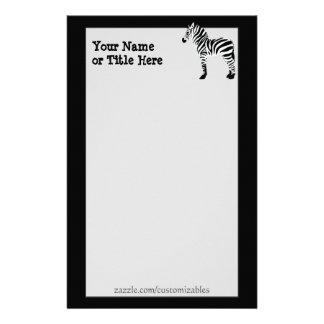 Cebra inmóvil  papeleria