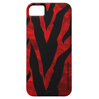 Cebra Iphone rojo 5 iPhone 5 Funda