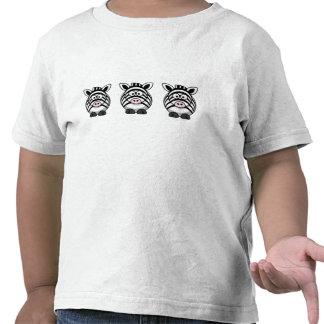 Cebra linda camisetas