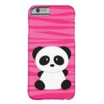 Cebra linda de la panda funda de iPhone 6 slim
