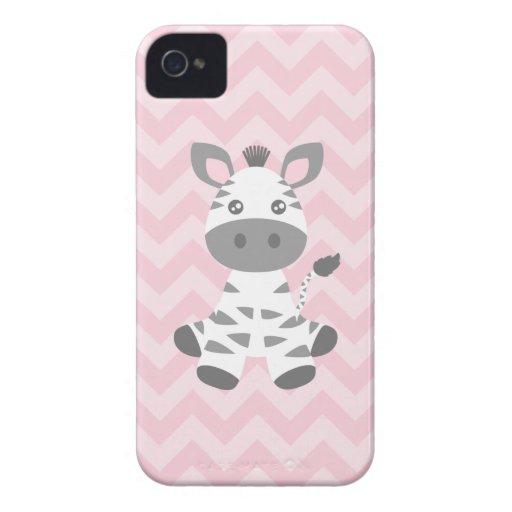 Cebra linda del bebé iPhone 4 Case-Mate cobertura