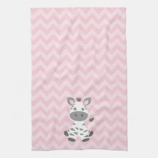Cebra linda del bebé toalla de mano