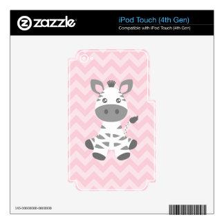 Cebra linda del bebé iPod touch 4G skin