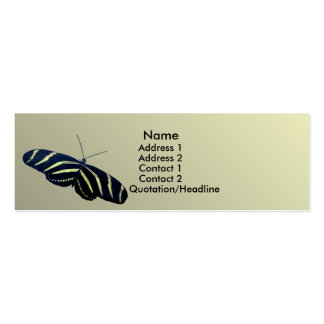Cebra Longtail Tarjetas De Visita Mini