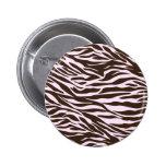 cebra marrón y rosada pin