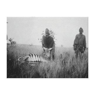 Cebra matada por los naturales en la fotografía de impresion en lona