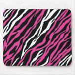 Cebra Mousepad - rosa y blanco Tapete De Raton