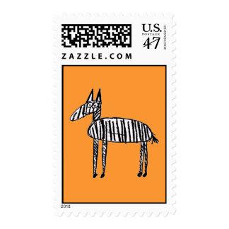 Cebra - naranja sello postal