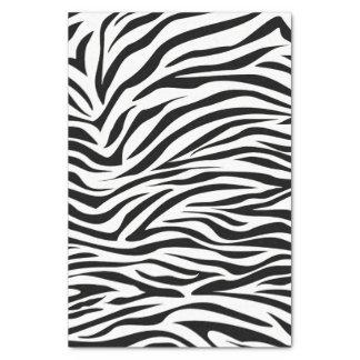 Cebra negra del safari papel de seda pequeño