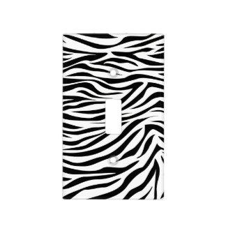 Cebra negra del safari placa para interruptor