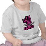 Cebra negra rosada una camiseta año
