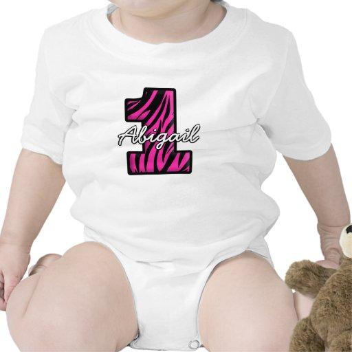 Cebra negra rosada una enredadera infantil año traje de bebé