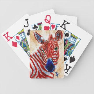 Cebra patriótica cartas de juego