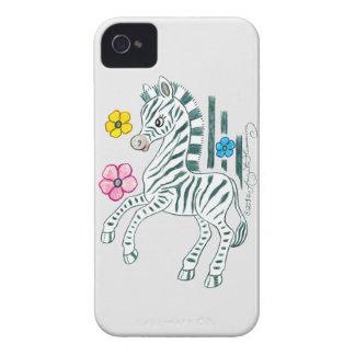 Cebra Prancing iPhone 4 Carcasas
