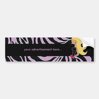 cebra púrpura 311-Fashionista el   rubio Pegatina Para Auto