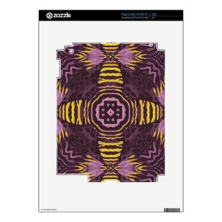 Cebra púrpura amarilla iPad 2 calcomanías