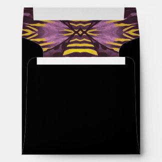 Cebra púrpura amarilla sobres